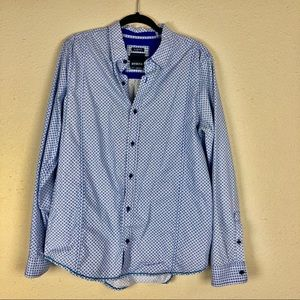 Men's Prana Button Down Shirt Slim Fit Large